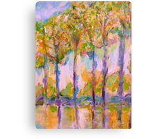 Glowing Autumn Trees Canvas Print