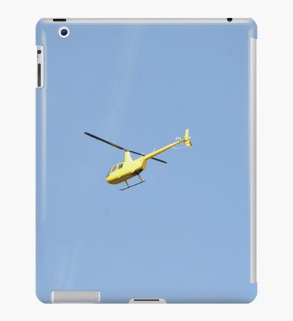 Yellow R44 Helicopter iPad Case/Skin