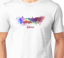 Seoul skyline in watercolor Unisex T-Shirt