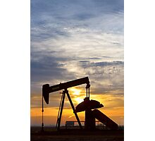 Oil Pumper At Sunrise Vertical Image Photographic Print