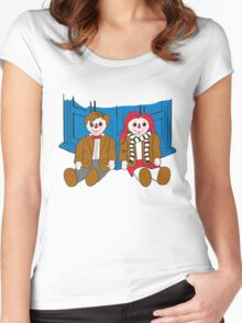 Raggedy Man and Amy-variant Women's Fitted Scoop T-Shirt