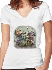 Fellowship of the Muppets Women's Fitted V-Neck T-Shirt