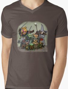 Fellowship of the Muppets Mens V-Neck T-Shirt