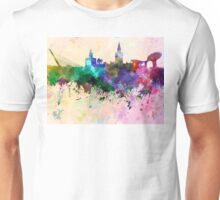 Seville skyline in watercolor background Unisex T-Shirt