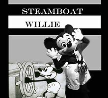 Steamboat Willie - Mickey Mouse  by Kelsi Nicholson
