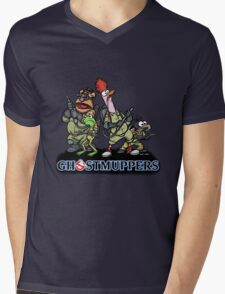 Ghostmuppers Mens V-Neck T-Shirt