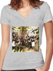 First Nations Butterfly Women's Fitted V-Neck T-Shirt