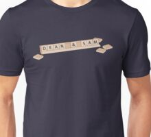 Dean and Sam Scrabble Shirt Unisex T-Shirt