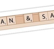 Dean and Sam Scrabble Shirt Sticker
