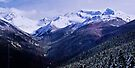 Mountains at Whistler from Peak To Peak Lift by Yukondick