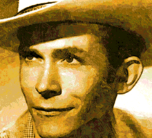 Country Singer, Hank Williams Sticker