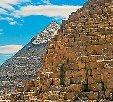Cheops & Khafre Pyramids. by bulljup