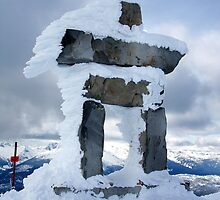 Inukshuk- Whistler Peak by Jamie Kiddle