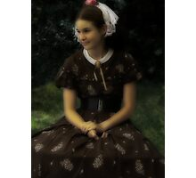 Sweet Victorian Girl - Please View Large Photographic Print
