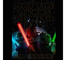 Alvin And The Chipmunks may the munks be with you munks wars 2015 Photographic Print
