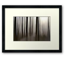 curtain of light Framed Print