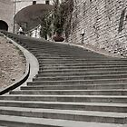 Stairs to right desaturated color. by brians101