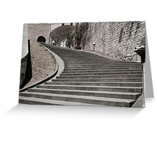 Stairs to right desaturated color. Greeting Card