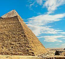 Khafre & Menkaure Pyramids. by bulljup