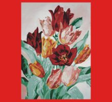 A Beautifully Bold Floral Bouquet of Tulips Baby Tee