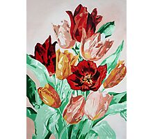 A Beautifully Bold Floral Bouquet of Tulips Photographic Print