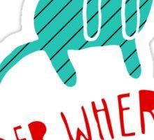 """""""Under Where?"""" Sticker Sticker"""