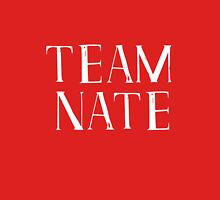 Team Nate - white text Womens Fitted T-Shirt