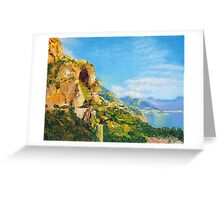 Amalfi Cave Vineyard Greeting Card