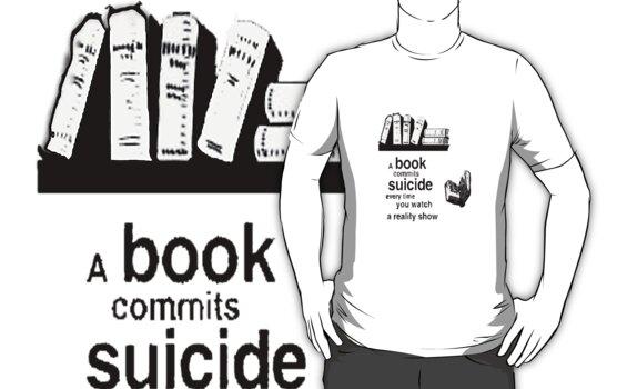 A Book Commits Suicide by pandabear510