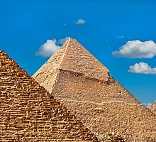 Menkaure-Khafre-Cheops Pyramids. by bulljup