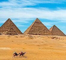 Menkaure-Khafre-Cheops Pyramids2. by bulljup