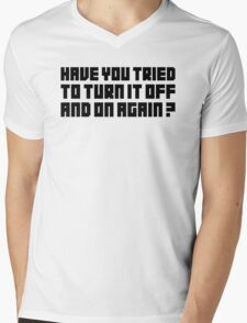 Turn It Off Mens V-Neck T-Shirt