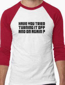 Turning It Off Men's Baseball ¾ T-Shirt