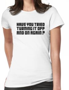 Turning It Off Womens Fitted T-Shirt