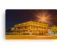Commercial Hotel Hay nsw  Canvas Print