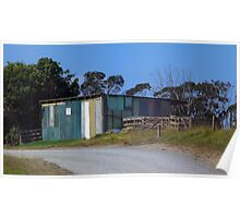 An old farm shed in Mangawhai - New Zealand Poster