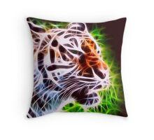 Fiery Tiger Throw Pillow