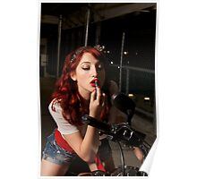 Pinup with bobber Poster