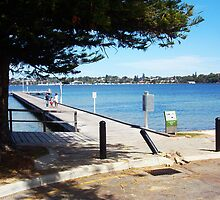 Bent Post - River Jetty - Claremont - 09 03 13 by Robert Phillips