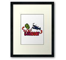 Hop Lobster Framed Print
