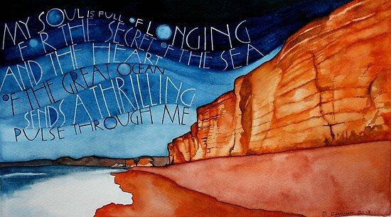Cliffs by samcannonart