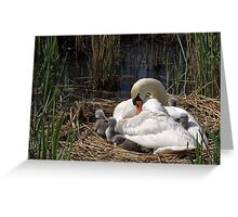 Right Time on Right Place Greeting Card
