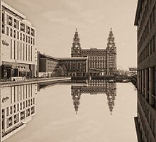 Still Waters Sepia by DavidWHughes