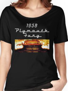 Christine - 1958 Plymouth Fury (White Font) Women's Relaxed Fit T-Shirt