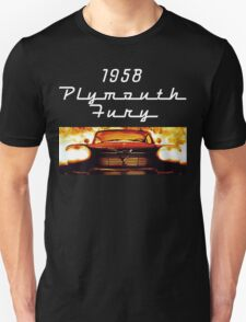 Christine - 1958 Plymouth Fury (White Font) Unisex T-Shirt