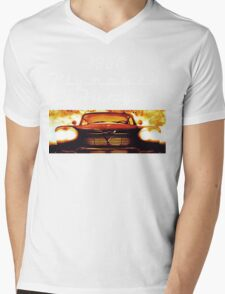 Christine - 1958 Plymouth Fury (White Font) Mens V-Neck T-Shirt