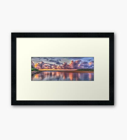 Painted Sky - Narrabeen Lakes, Narrabeen - The HDR Experience Framed Print
