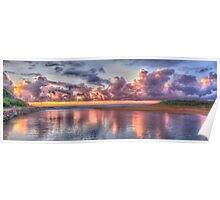 Painted Sky - Narrabeen Lakes, Narrabeen - The HDR Experience Poster