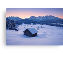 Frozen Dawn Canvas Print