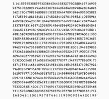Pi to 1000 digits Kids Tee